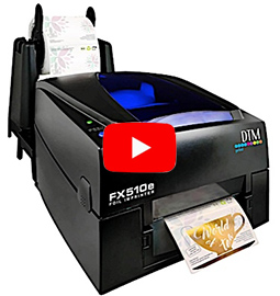 FX500e, folie labelprinter